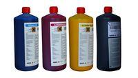 Zestaw atramentów eko solwentowych AGFA Aldura CMYK 1 l